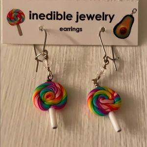 Inedible Jewelry Lollipop Earrings
